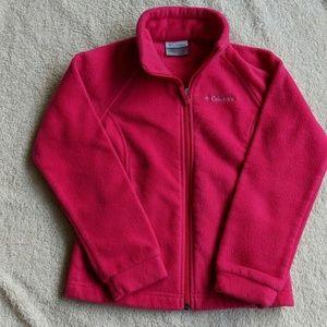 Columbia Pink Zip Up Fleece Jacket